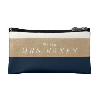 The New Mrs. Navy Blue Cosmetic Bag