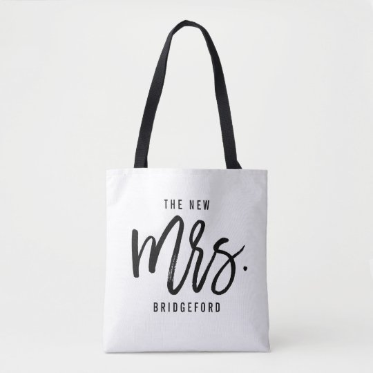 The New Mrs Personalised Bride Tote Bag