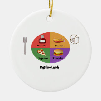 The New, New Four Food Groups Christmas Ornament