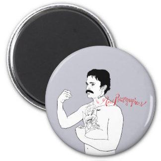 The New Pornographers Grey Boxer 6 Cm Round Magnet