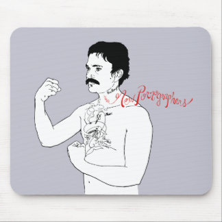 The New Pornographers Grey Boxer Mouse Mat