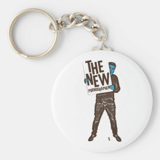 The New Pornographers Sign Basic Round Button Key Ring