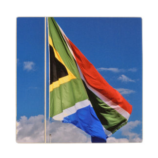 The New, Post-1994 South African Flag Flying Wood Coaster