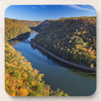 The New River Gorge At Hawks Nest State Park Drink Coasters