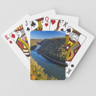 The New River Gorge At Hawks Nest State Park Playing Cards