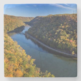 The New River Gorge At Hawks Nest State Park Stone Coaster