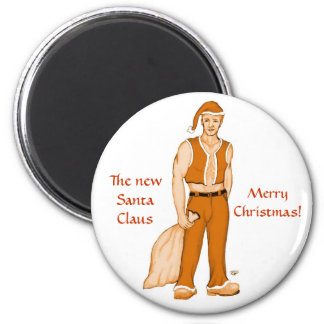 The new Santa Claus - Merry Christmas! 6 Cm Round Magnet