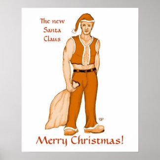 The new Santa Claus - Merry Christmas Print