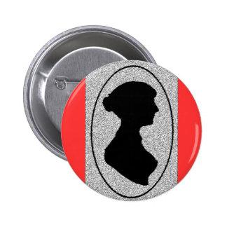 The New silhouette Of Jane Austen 6 Cm Round Badge