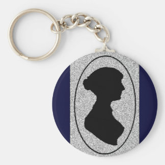 The New silhouette Of Jane Austen Basic Round Button Key Ring