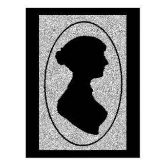 The New silhouette Of Jane Austen Postcard