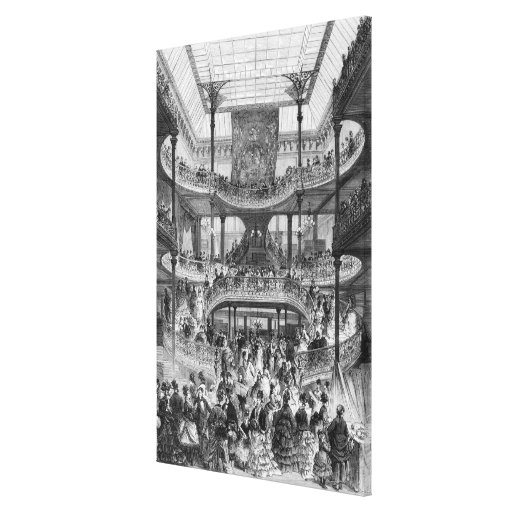 The New Staircase in 'Au Bon Marche' Canvas Prints