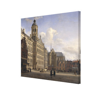 The New Town Hall, Amsterdam, 1668 Canvas Print