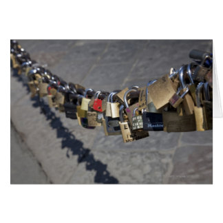 the new tradition of 'locks of love' attached by card