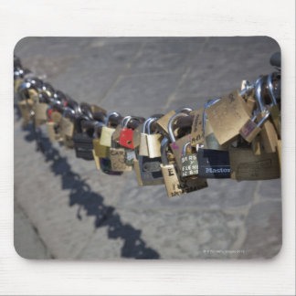 the new tradition of 'locks of love' attached by mouse mat