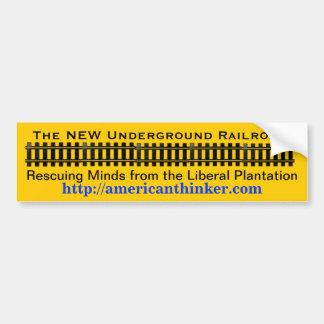 The New Underground Railroad Car Bumper Sticker