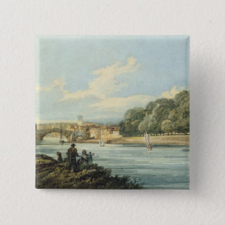 The New Walk, York, c.1798 (pencil and w/c on pape 15 Cm Square Badge