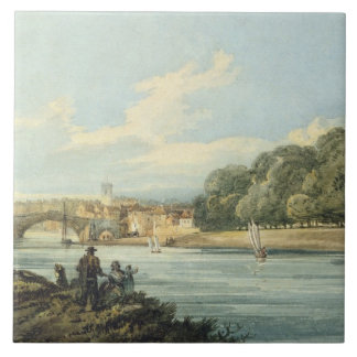 The New Walk, York, c.1798 (pencil and w/c on pape Tile