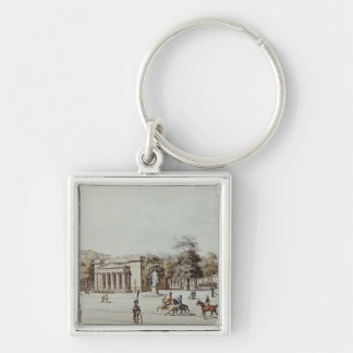 The new Watch House, next to the Armoury, Berlin Silver-Colored Square Key Ring
