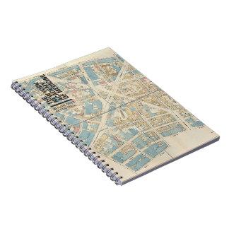 The New York Academy of Medicine - Manhattan Map Spiral Notebook
