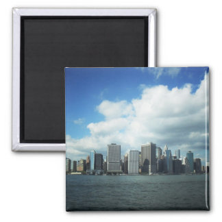 The New York City Skyline, A River View Square Magnet