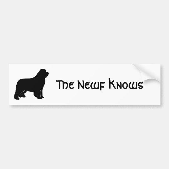 The Newf Knows Bumper Sticker