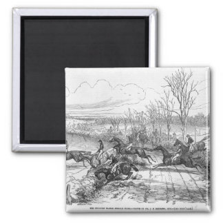 The Newport Pagnel Steeple Chase Square Magnet