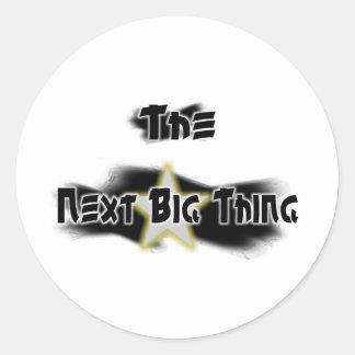 The Next Big Thing Round Sticker