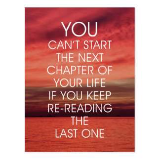 The Next Chapter Life Quote Postcard