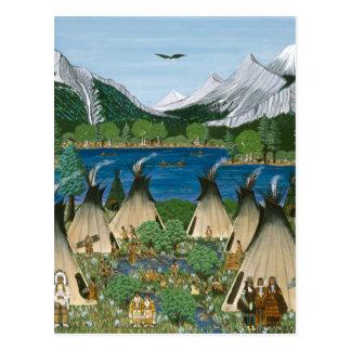 The Nez Perce Wallowa Lake Post Card