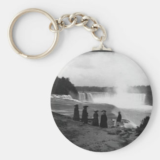 The Niagara Falls ~ 1853 Basic Round Button Key Ring