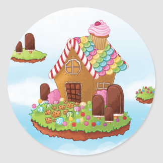 The Nibbled house Round Sticker