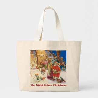 The Night Before Christmas at the North Pole Large Tote Bag