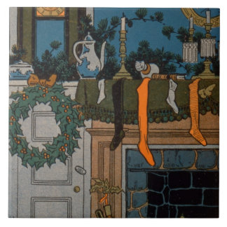 The Night Before Christmas by Denlow, 1903 (colour Tile