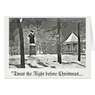 The Night Before Christmas greeting card b&w vntge