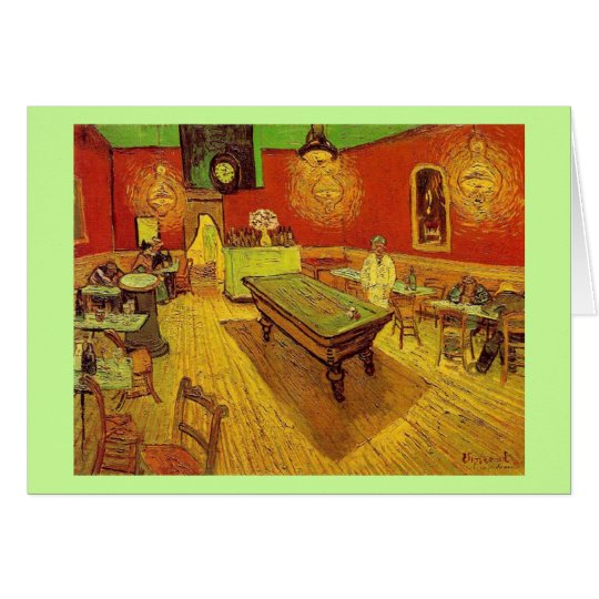 The Night Cafe by Vincent Van Gogh Card