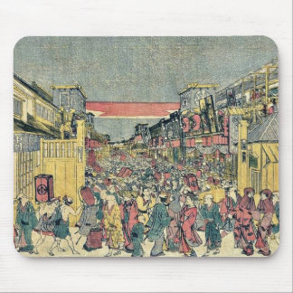 The night show by Utagawa,Toyoharu Mouse Pad