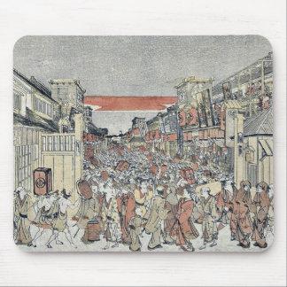 The night show by Utagawa, Toyoharu Mousepads