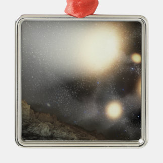 The night sky as seen from a hypothetical plane christmas ornament