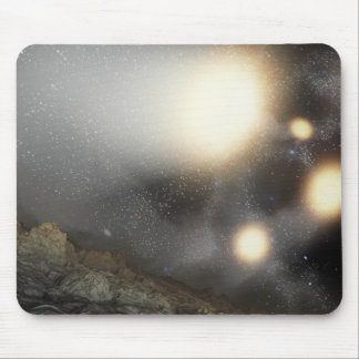 The night sky as seen from a hypothetical plane mouse mat