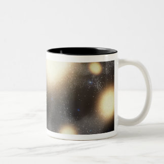 The night sky as seen from a hypothetical plane Two-Tone coffee mug