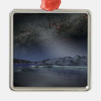 The night sky from a hypothetical alien planet 2 christmas ornament