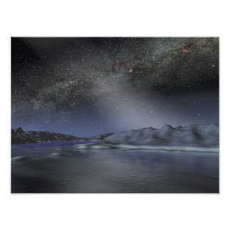 The night sky from a hypothetical alien planet 2 photo print