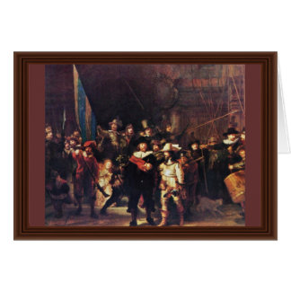 The Night Watch By Rembrandt Harmensz. Van Rijn Greeting Card