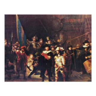 The Night Watch By Rembrandt Harmensz. Van Rijn Personalized Invite