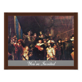 The Night Watch By Rembrandt Harmensz. Van Rijn Personalized Invites