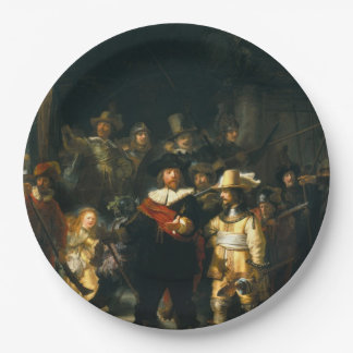 The Night Watch - Rembrandt Paper Plate