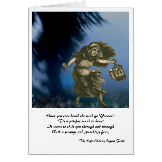 The Night Wind Halloween Fall Greeting Card