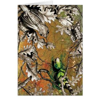 The Nightingale and Lizard Card