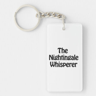 the nightingale whisperer Double-Sided rectangular acrylic key ring
